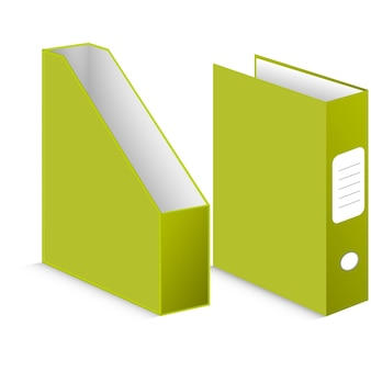 Dossiers ffice sur fond blanc
