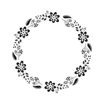 Dossiers de papier découpé monogramme floral