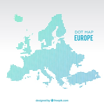 Dot europe map background
