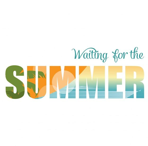 Double exposition illustration en attente de l'été