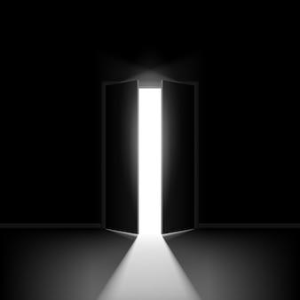 Double porte ouverte