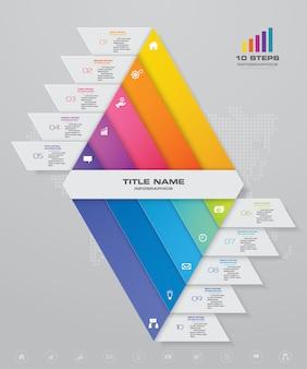 Double pyramide avec espace libre pour le texte.