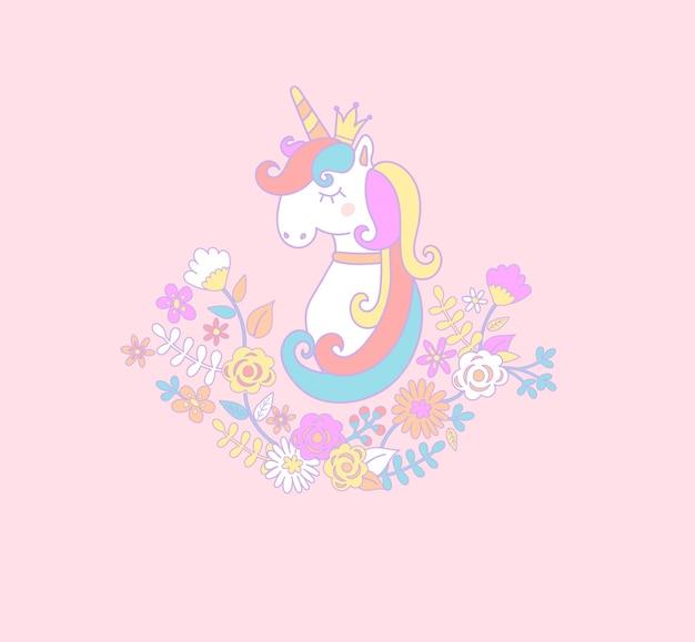 Douce princesse de licorne.