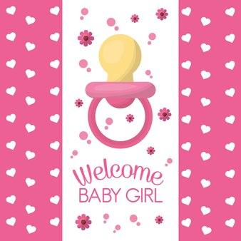 Douche de bébé heureuse