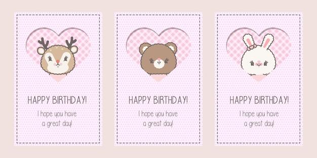 Douche de bébé mignon ou carte de joyeux anniversaire