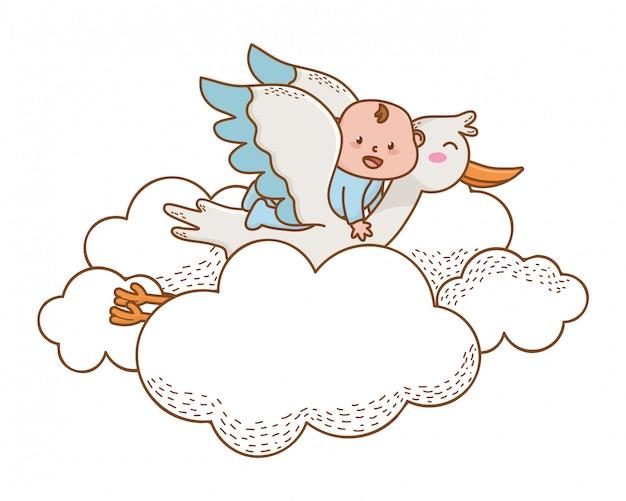 Douche de bébé mignonne belle illustration