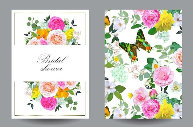 Douche nuptiale avec de jolies fleurs