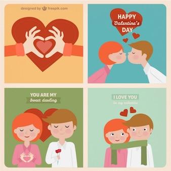 Doux cartes de vœux valentine