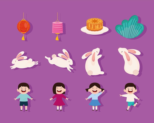 Douze icônes de la mi-automne