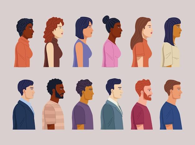 Douze personnes de la diversité