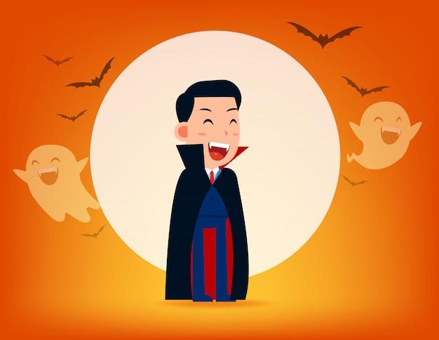 Dracula personnage avec une vieille faux