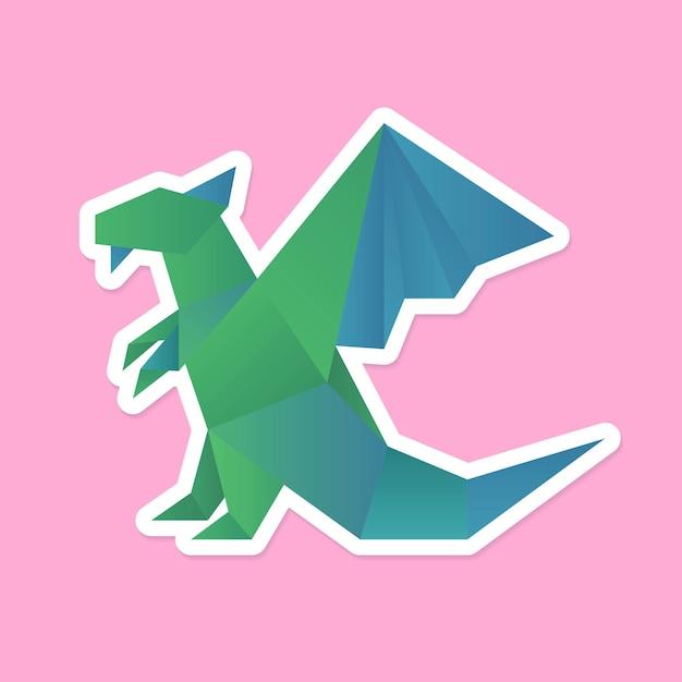 Dragon artisanal en papier découpé