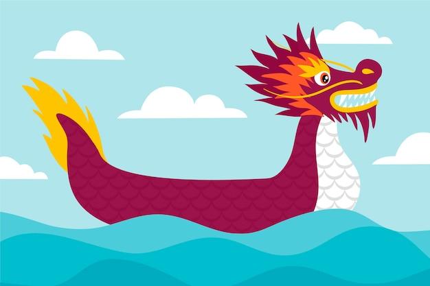 Dragon bateaux zongzi fond d'écran