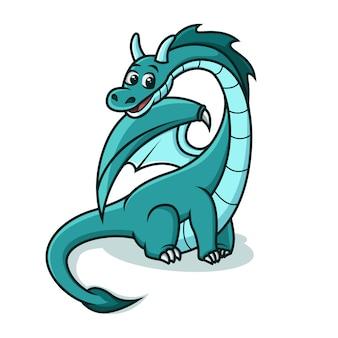 Dragon bleu mignon