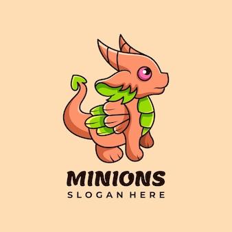 Dragon caractère mascotte logo design vector illustration