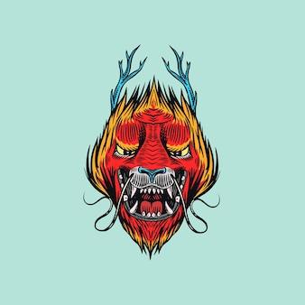 Dragon chinois. animal mythologique ou reptile traditionnel asiatique. symbole pour tatouage ou étiquette