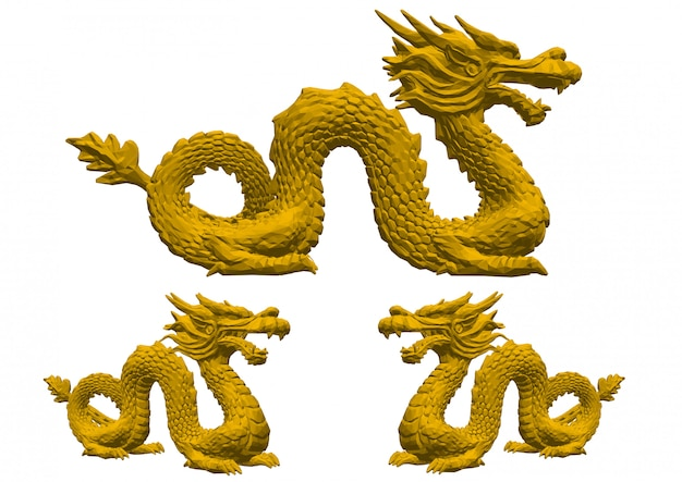 Dragon chinois isolé