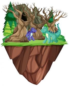 Dragon dans une forêt