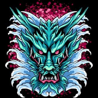 Le dragon d'eau japon
