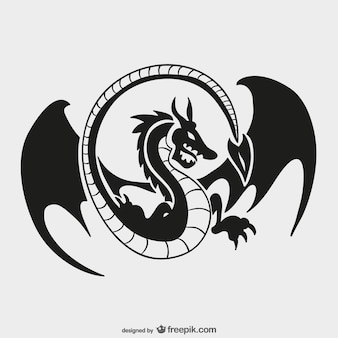 Dragon logo modèle