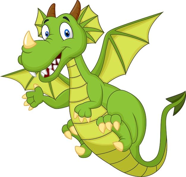 Dragon mignon de bande dessinée