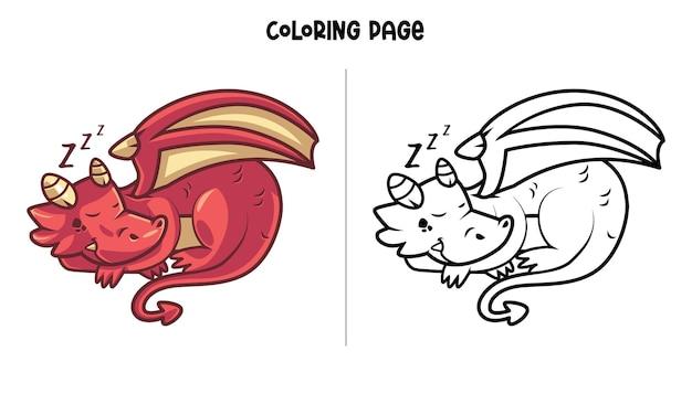 Dragon rouge endormi