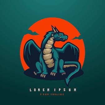 Dragon avec soleil