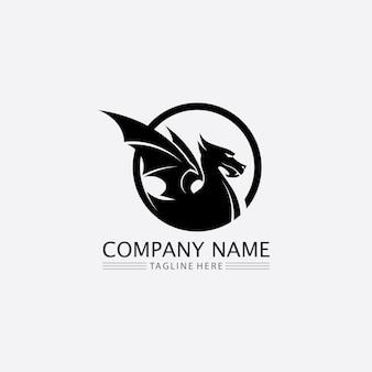 Dragon vector icon animal fantasy illustration design modèle de logo