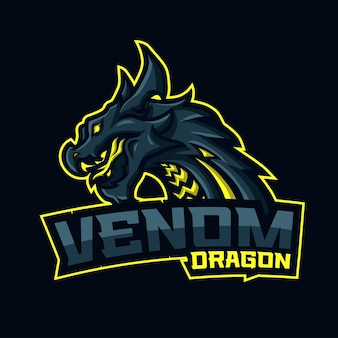 Dragon avec venom breath et texte venom dragon en bas.