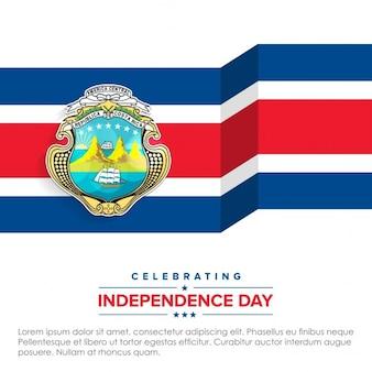 Drapeau 3d célébrer costa rica jour de l'indépendance