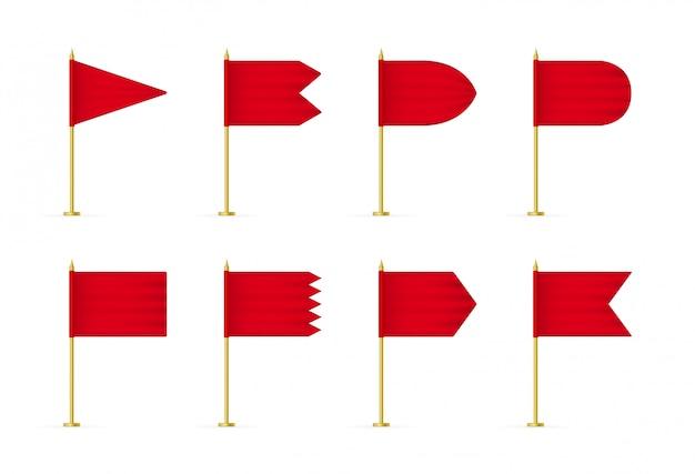 Drapeau 3d rouge
