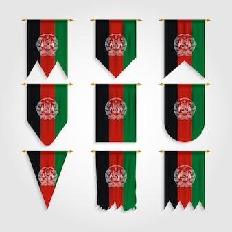 Drapeau de l'afghanistan sous différentes formes, drapeau de l'afghanistan sous différentes formes