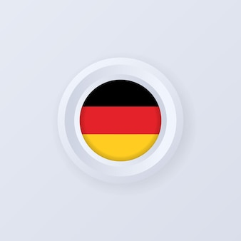 Drapeau de l'allemagne. bouton allemagne. étiquette allemagne, signe, bouton, insigne. drapeau allemand.