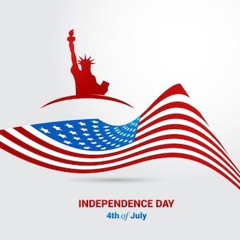 Drapeau américain 4ème vecteur de jour de l'indépendance américaine juillet