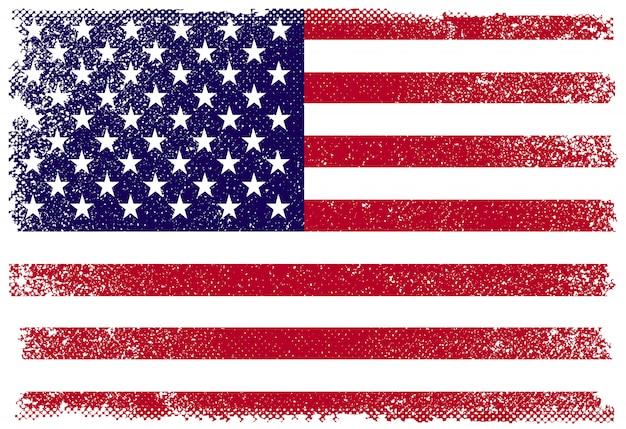 Drapeau américain dans un style grunge