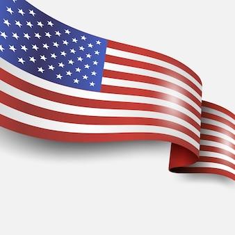 Drapeau américain et design usa bouton drapeau