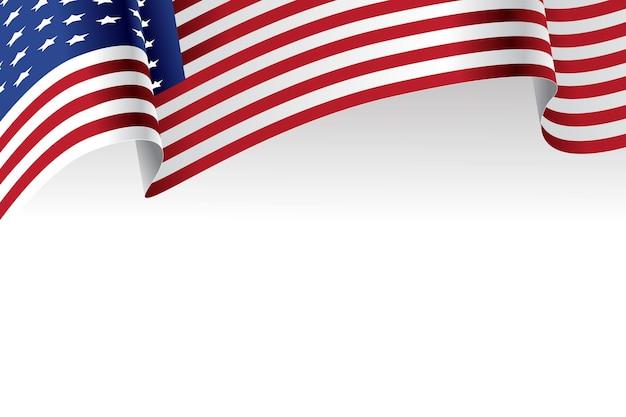 Drapeau américain, à, fond blanc