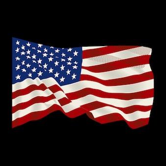Drapeau américain fond flottant