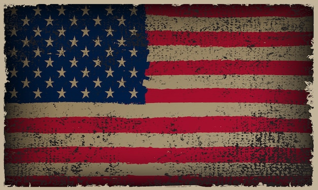 Drapeau américain de grunge