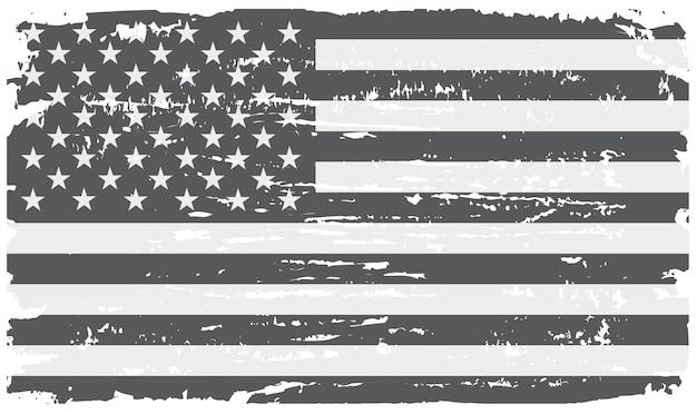 Drapeau américain grunge