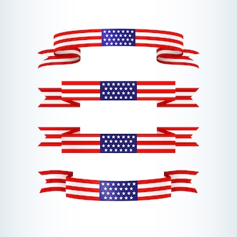 Drapeau américain ruban étoiles rayures patriotique thème américain drapeau usa
