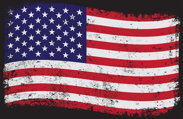 Drapeau américain sale grunge