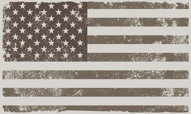 Drapeau américain vintage
