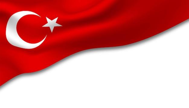 Drapeau de l'arrière-plan turki.