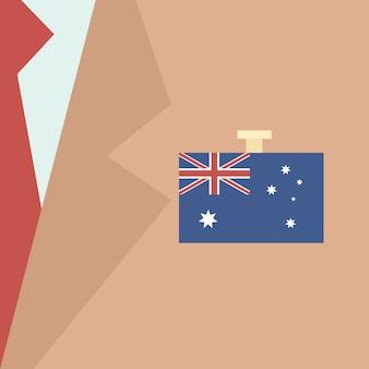 Drapeau de l'australie homme d'affaires costume politique