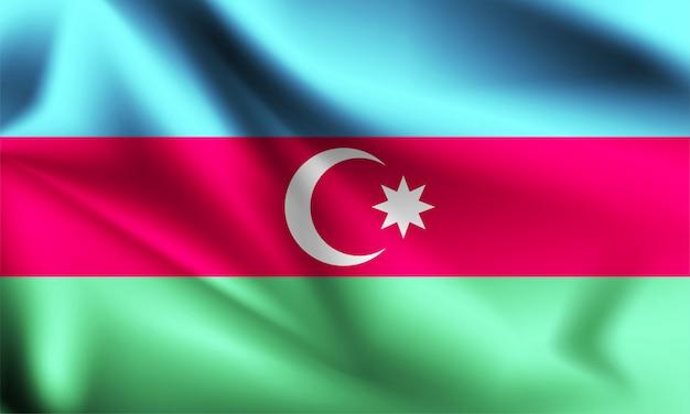 Drapeau de l'azerbaïdjan dans le vent. partie d'une série. azerbaïdjan, agitant le drapeau.