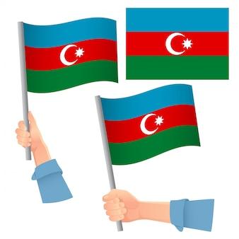 Drapeau de l'azerbaïdjan en jeu de main