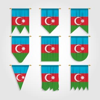 Drapeau de l'azerbaïdjan sous différentes formes