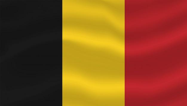 Drapeau de la belgique modèle de fond temporairement.