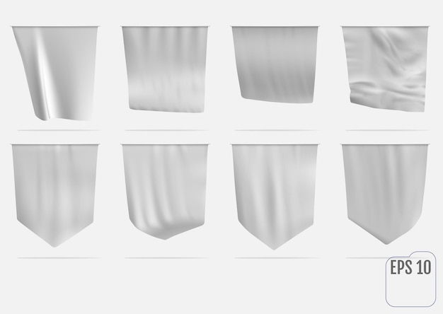 Drapeau blanc fanion réaliste.